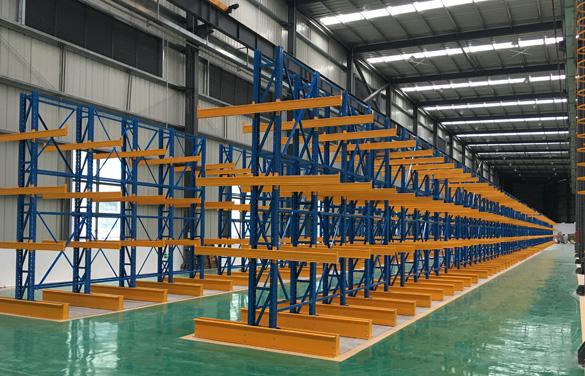 亚大实业悬臂阁楼仓储货架能节约材料存放空间